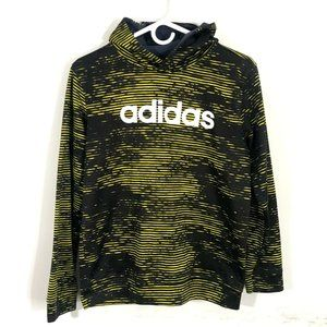 Adidas Spell Out Space Dye Stripe Hoodie Yellow L